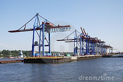 Hamburg port Editorial Stock Photo