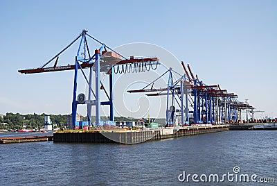 Hamburg port Editorial Stock Photo