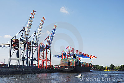 Hamburg port Editorial Stock Image