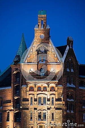 Hamburg speicherstadt old buildings