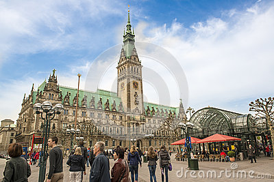 Hamburg Town Hall Editorial Stock Image