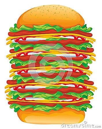 Free Hamburger Big Vector Stock Images - 3101724