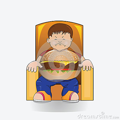 Hamburger boy.
