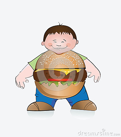 Hamburger boy.