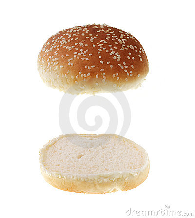Free Hamburger Bread Isolated Royalty Free Stock Photography - 9790737