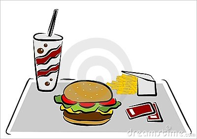 Hamburger with chips