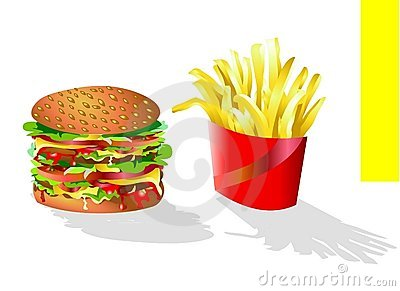 Hamburger and Chips