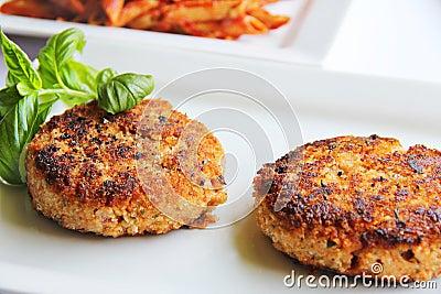 Hamburger de veggie de pâtes