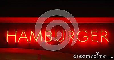 Hamburger Neon Sign