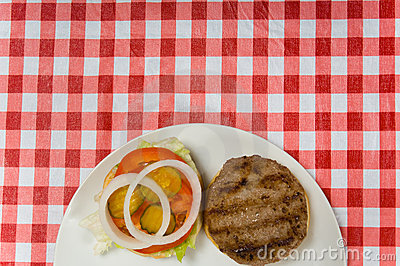 Hamburger at Picnic