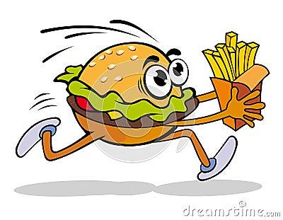 Hamburger with potato