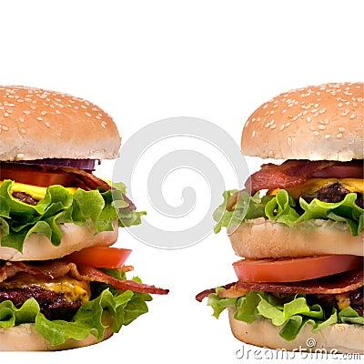 Free Hamburger Series (Twin Burgers) Royalty Free Stock Photography - 2024467
