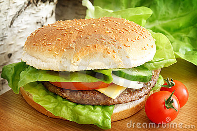 Hamburguer do fast food