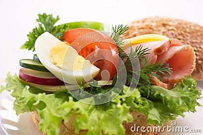 Hamburguesa con las verduras