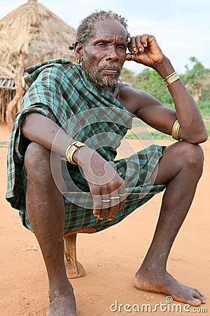 Free Hamer Man Near Turmi, Ethiopia Royalty Free Stock Photography - 20051337