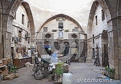 Hamidiye Bazaar market in damascus syria Editorial Image