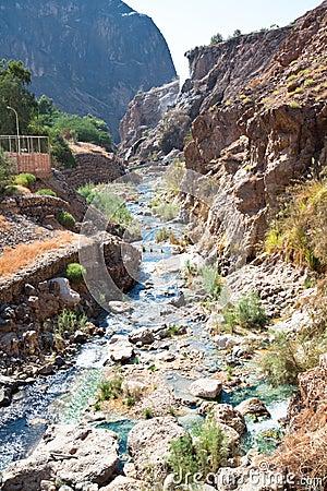 Hammamat Ma in canyon,  Jordan