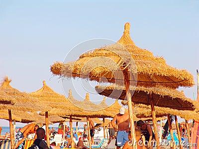 Tourists on Tunisian beach