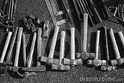 Hammer handtools hand tools collection pattern