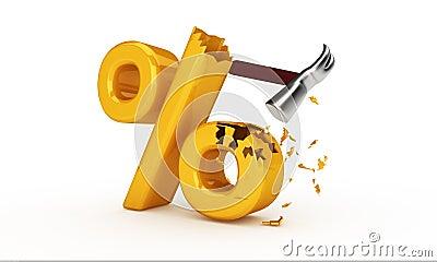 Hammer hitting percent sign