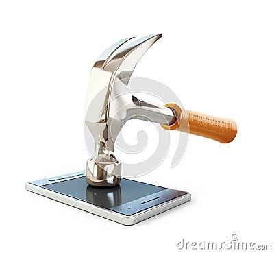 Free Hammer Phone Stock Photo - 66694830