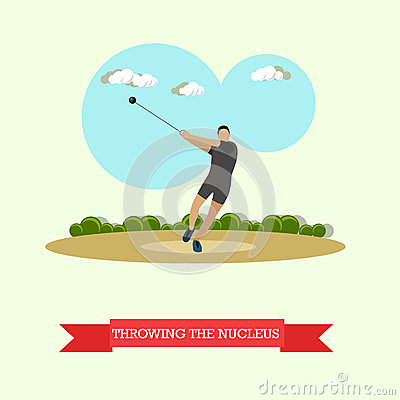 Free Hammer Throw Sportsman. Track And Field Athletics. Flat Design Royalty Free Stock Photos - 77351308