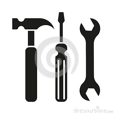 Free Hammer Turnscrew Tools Icon Stock Images - 46707944