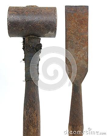 hammer und mei el lizenzfreie stockfotografie bild 23382927. Black Bedroom Furniture Sets. Home Design Ideas
