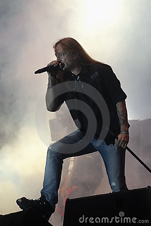 Hammerfall live at Peninsula Festival Editorial Photo