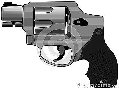Hammerless revolver