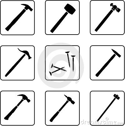 Free Hammers 1 Royalty Free Stock Image - 5523406