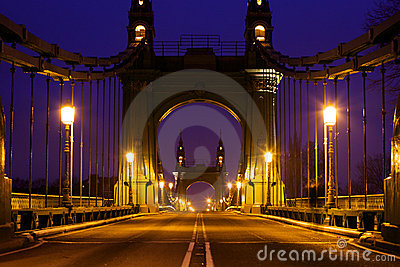 Hammersmith Bridge in the morning