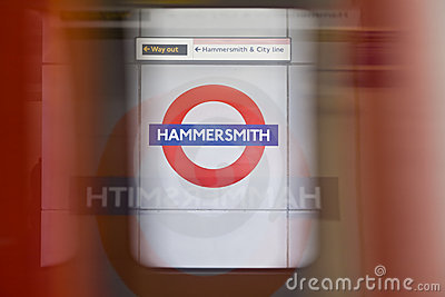 Hammersmith tube station Editorial Photo