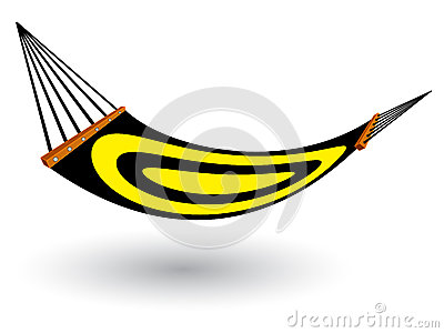 Hammock against white