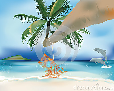 Hammock and dolphins