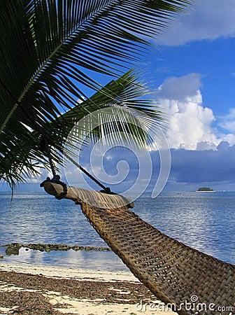 Free Hammock On Tropical Beach Royalty Free Stock Photo - 373125