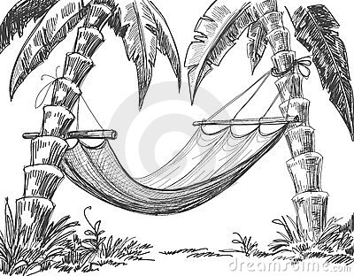 Hammock pencil drawing