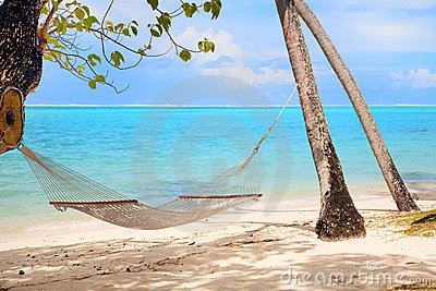 Hammock at tropical beach