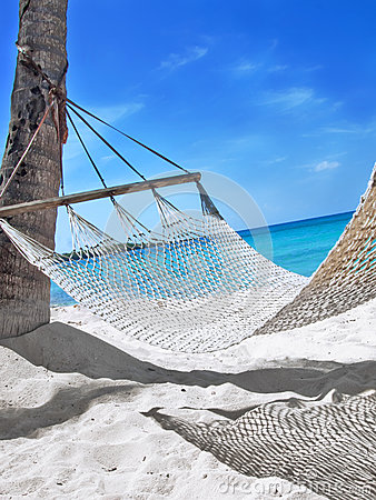Hammock at the tropical beach