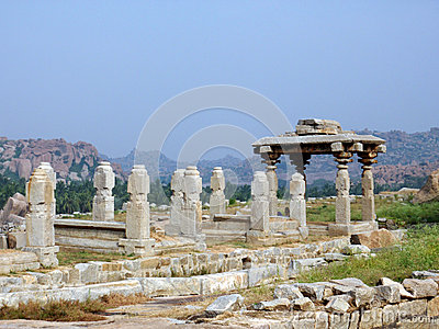 Hampi ancient ruins