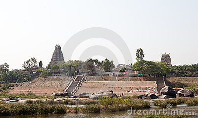 Hampi, the ruins of Hindu temples