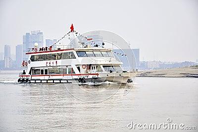 Han porcelanowa rzeka Wuhan Fotografia Editorial