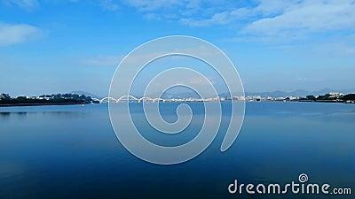 Han rzeka w Chaozhou, prowincja guangdong, Chiny zbiory wideo