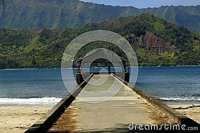 Hanalei Pier on Kauai, Hawaii