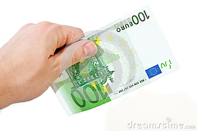 Hand with 100 Euro