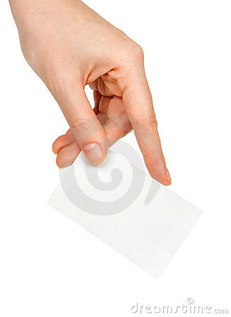 Free Hand And A Card Stock Photos - 19455133