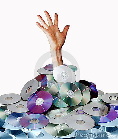 Free Hand And Disks Royalty Free Stock Photography - 13158187