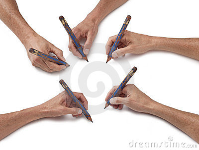 Hand Art Drawing Pencil