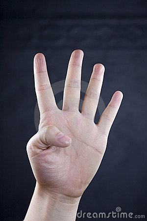 Hand assumed the posture