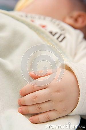 Hand of baby